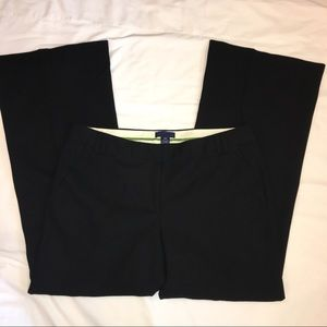J Crew 12P 12 Black Wool Favorite Fit Pants Career